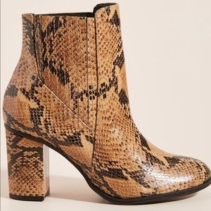 NWT Schutz Snake Ankle Boots 8.5